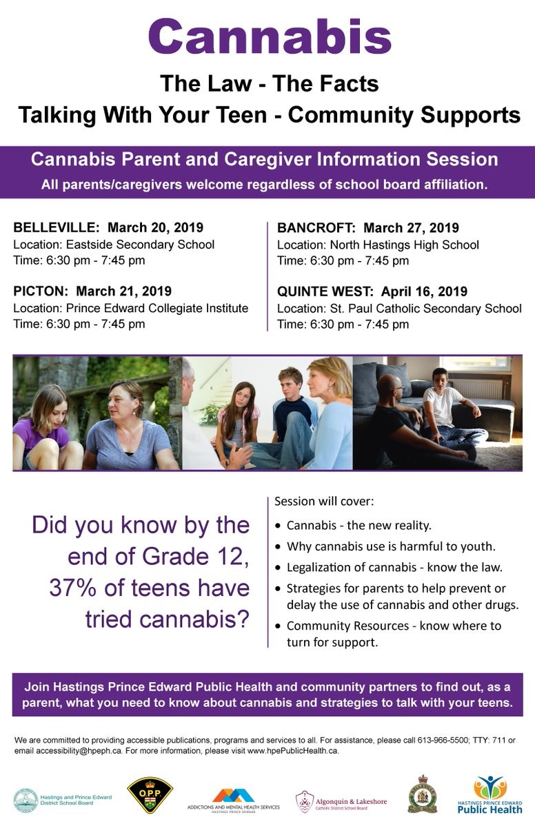 Cannabis information poster