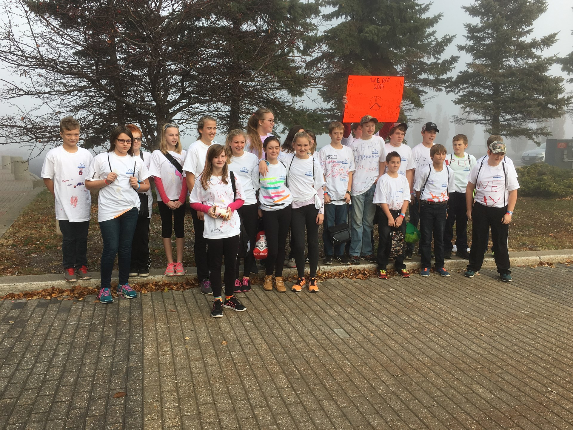 Grade 7/8 students who went to We Day