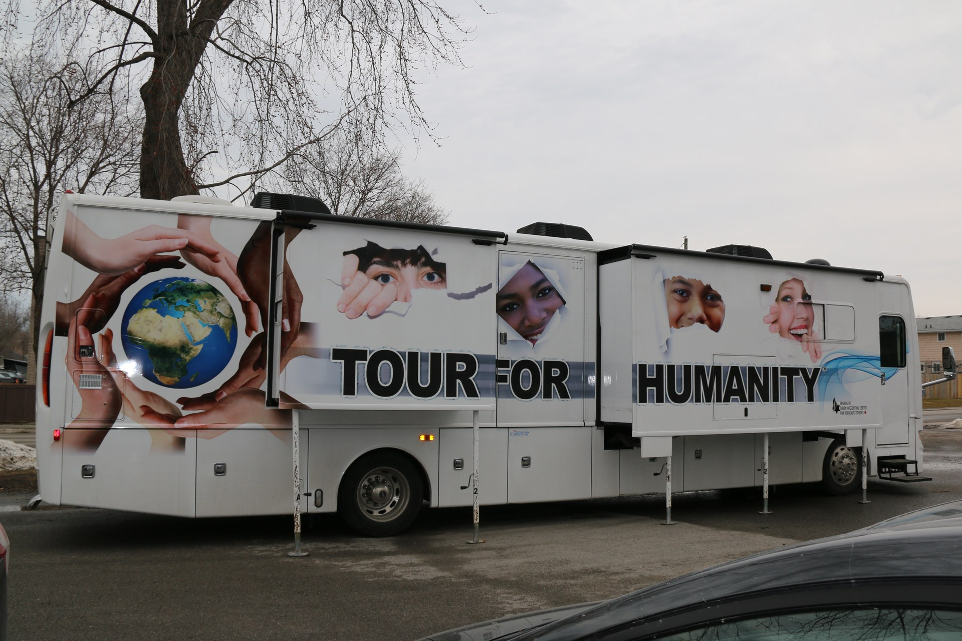 Tour for Humanity bus.