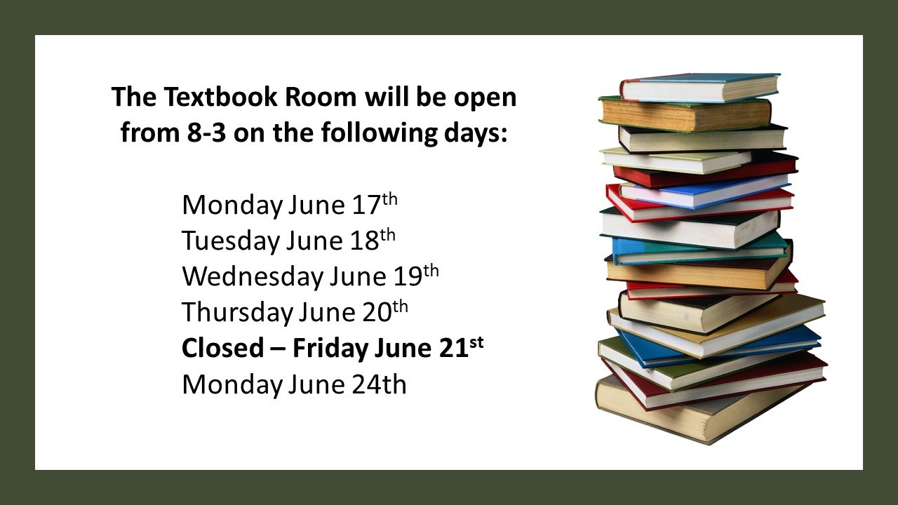 Textbook Room Hours June 2019