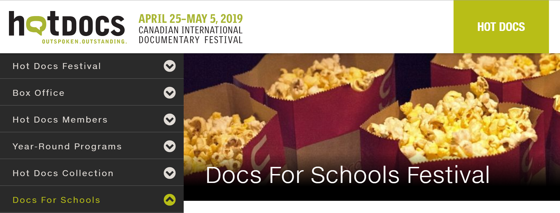 Hot Docs Film Festival snapshot