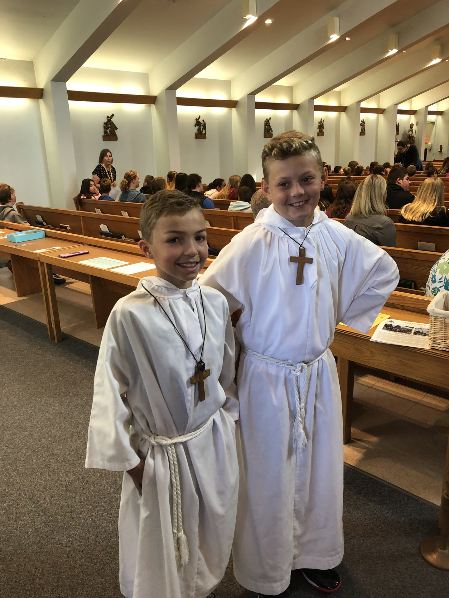 Alter boys at mass