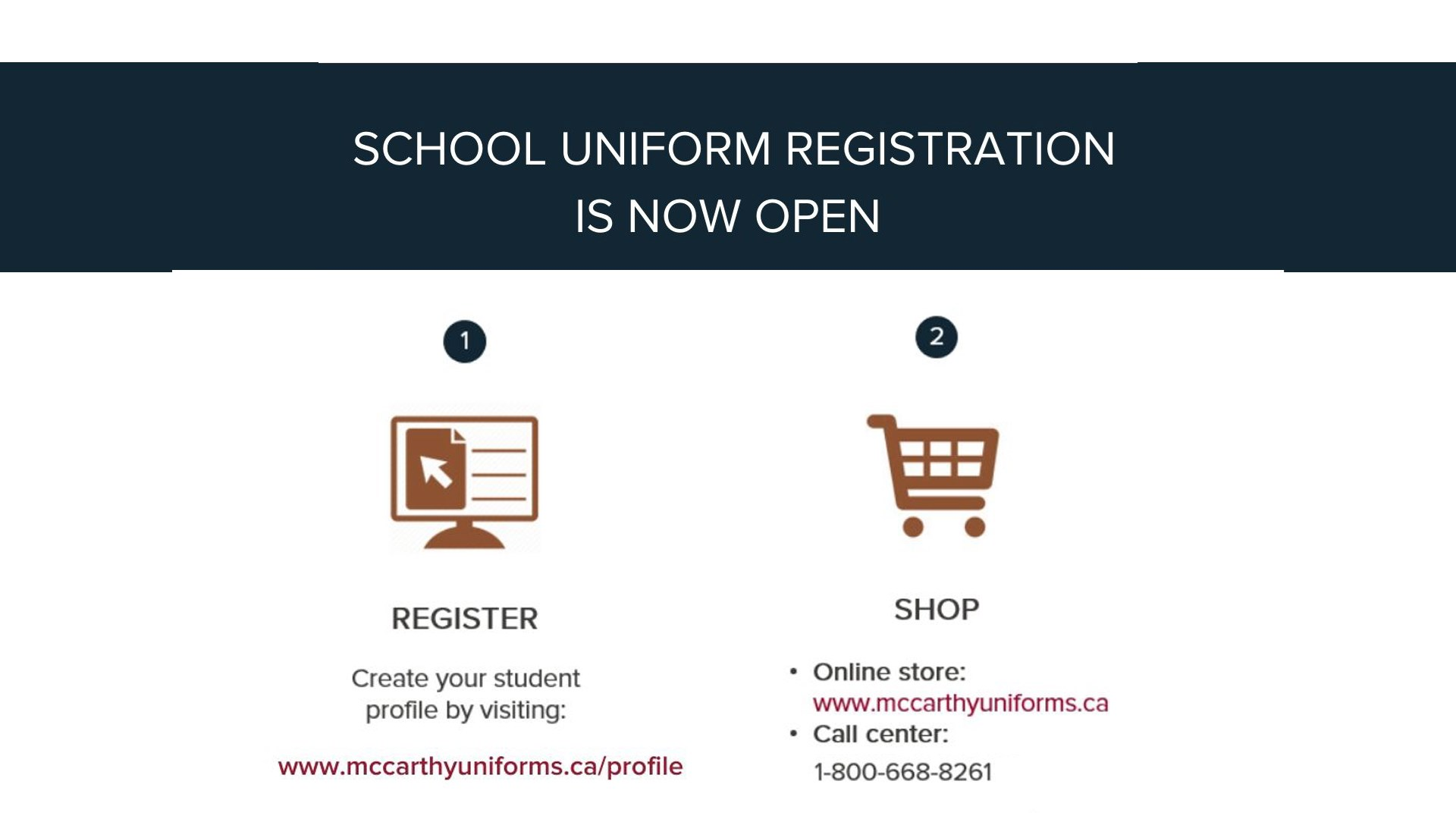Back to School 2020 Uniform Information