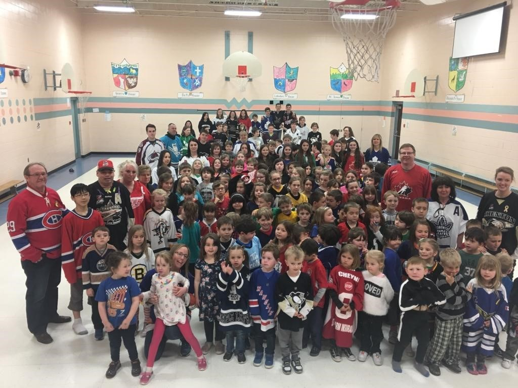 Jersey Day in honour of the Humboldt Broncos