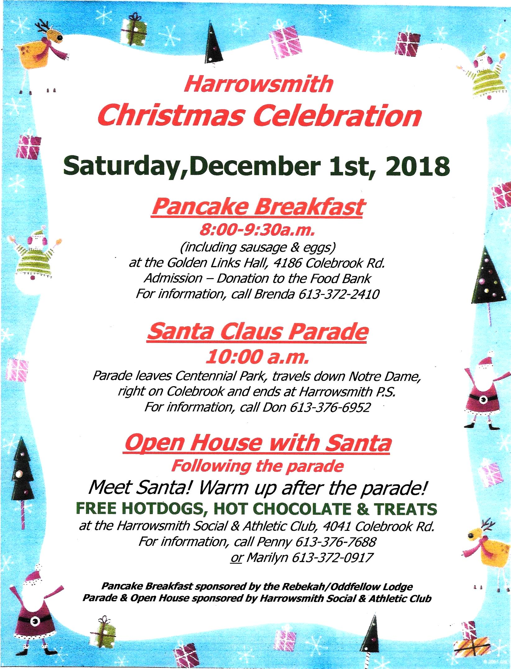 Christmas Parade and Open House 2018