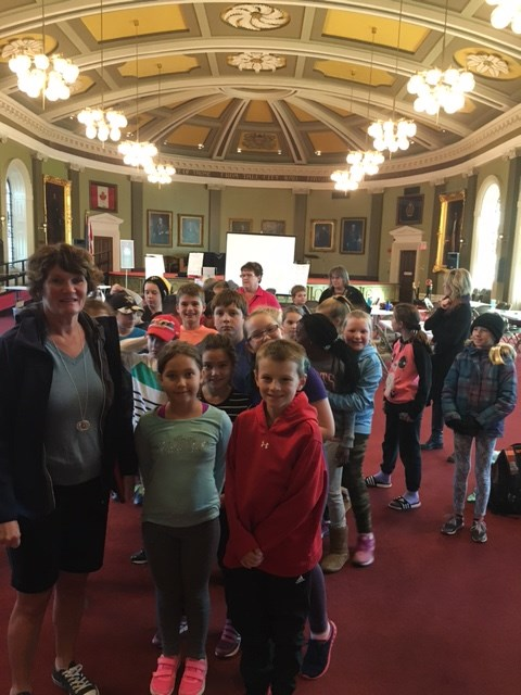Gr. 5 students at city hall
