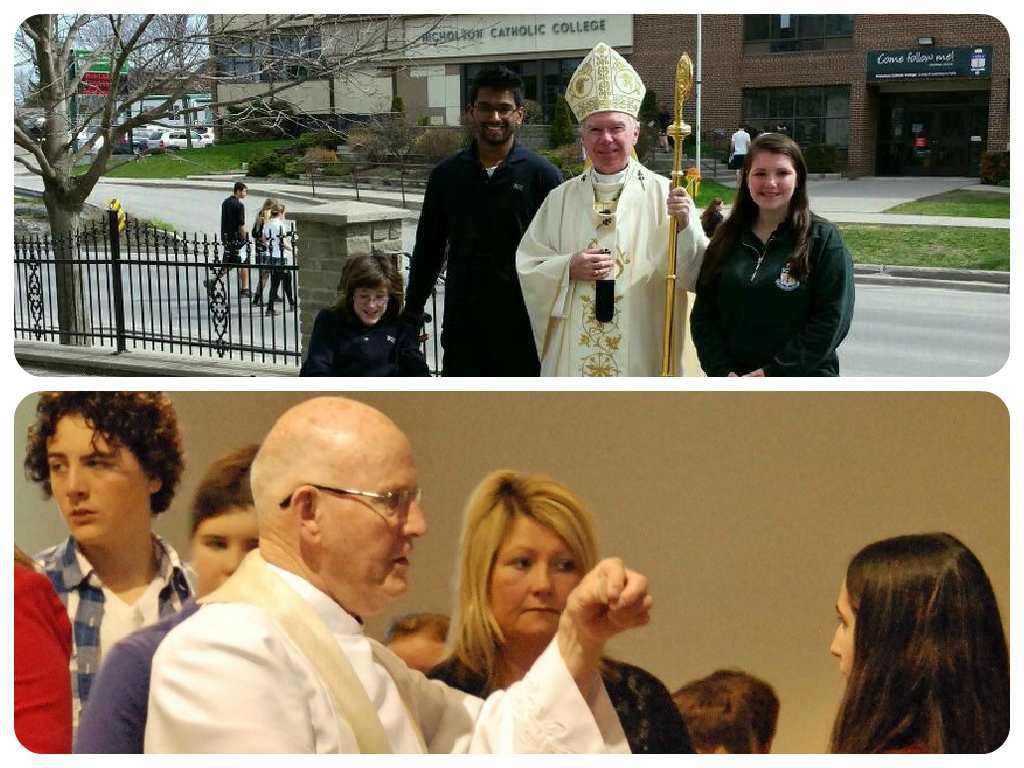 Archdiocese and mass photo collage