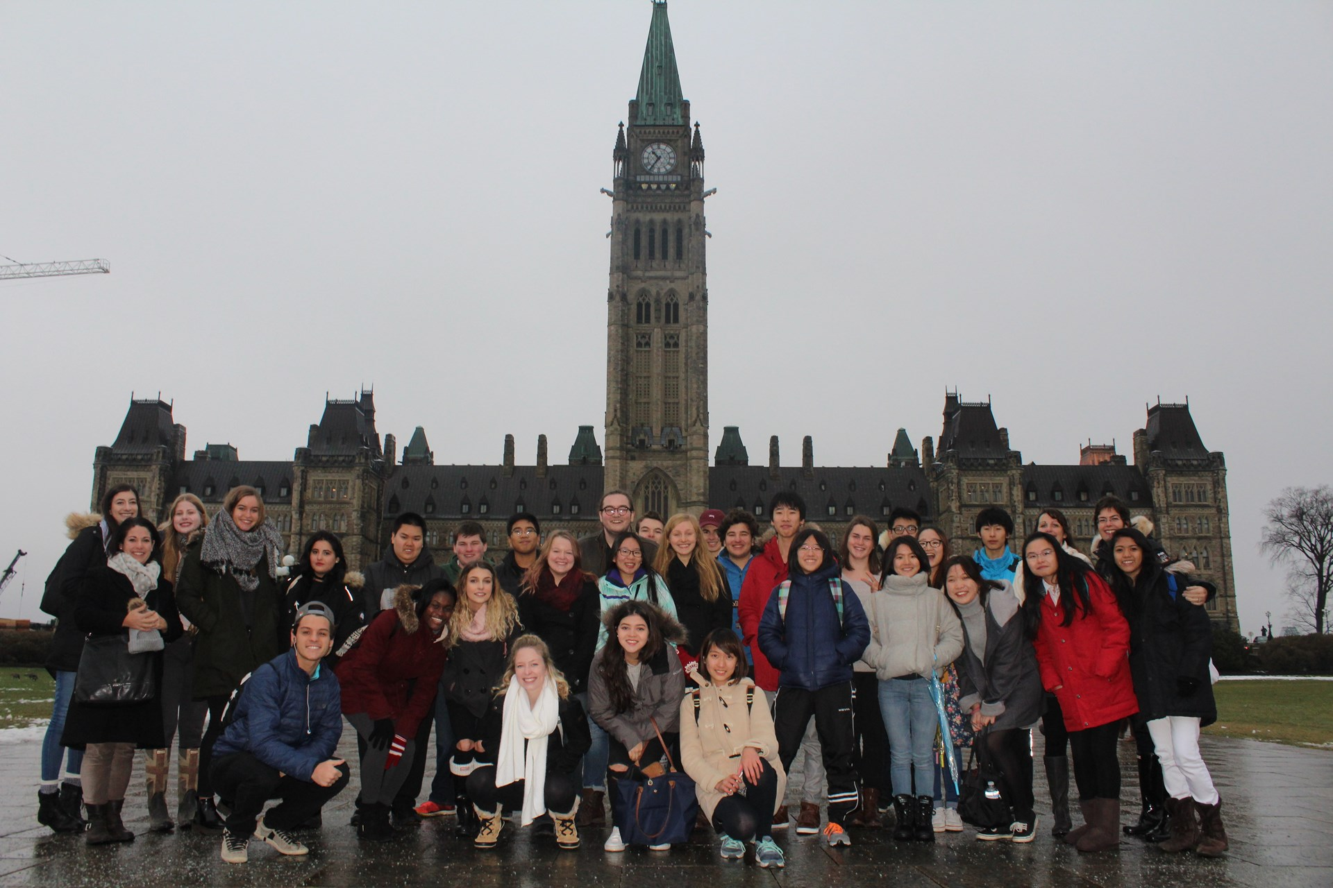 Students visiting Ottawa