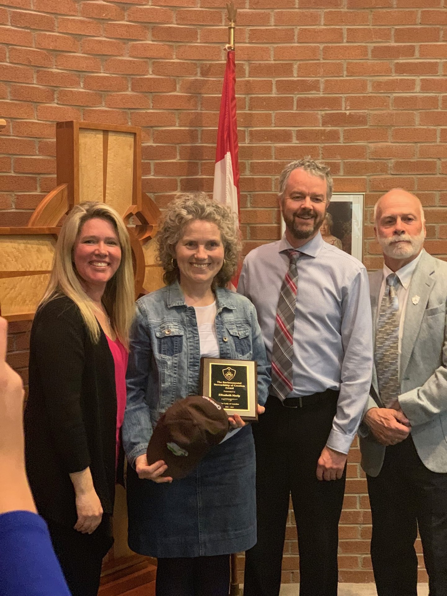 Congratulations to Mrs. Neely who received the Environmental Stewardship of Creation award