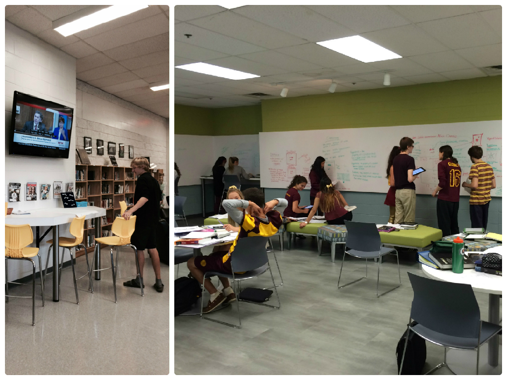 Two Learning Commons rooms.