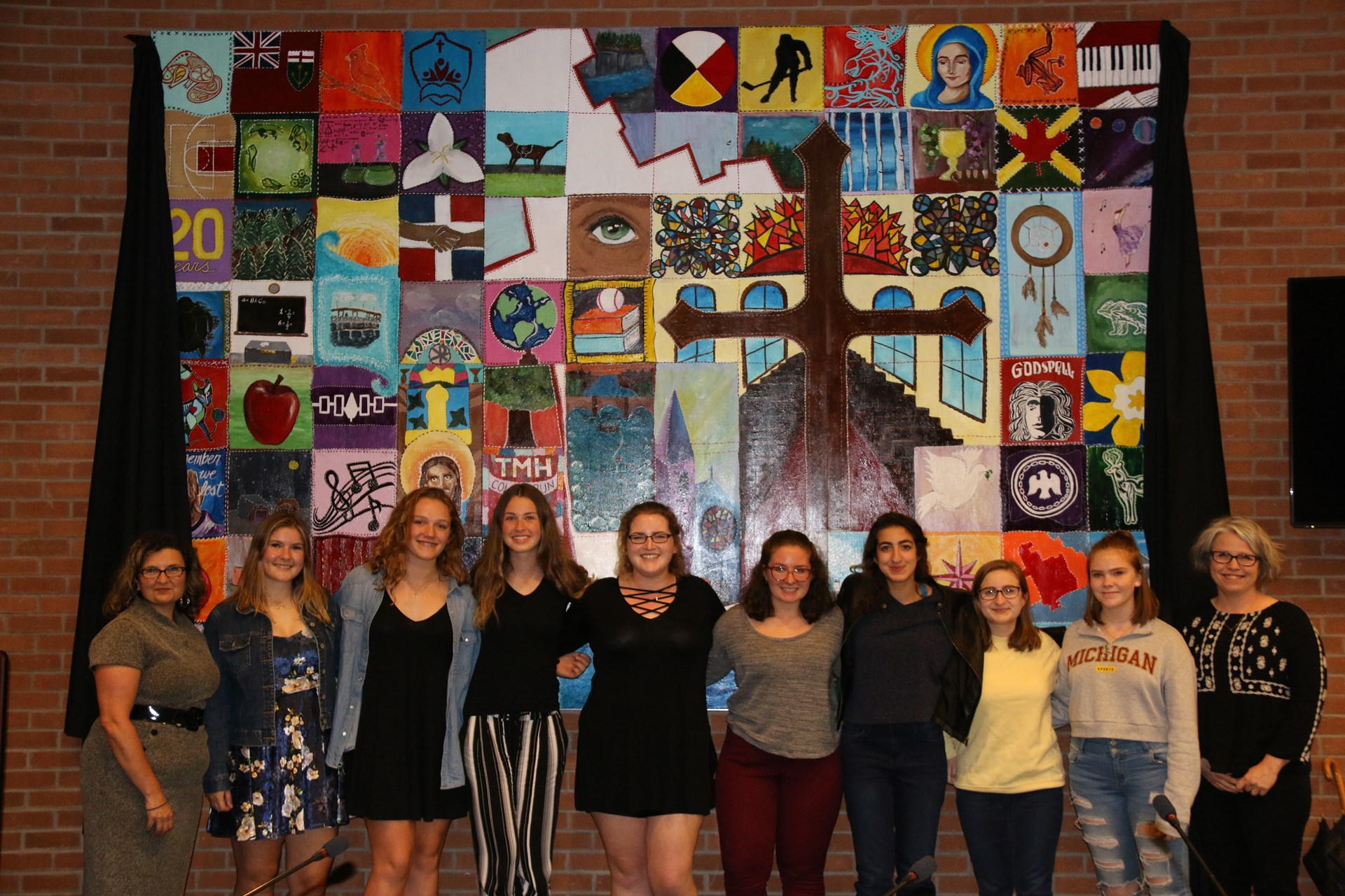 Students Unveil Board Room Art Project