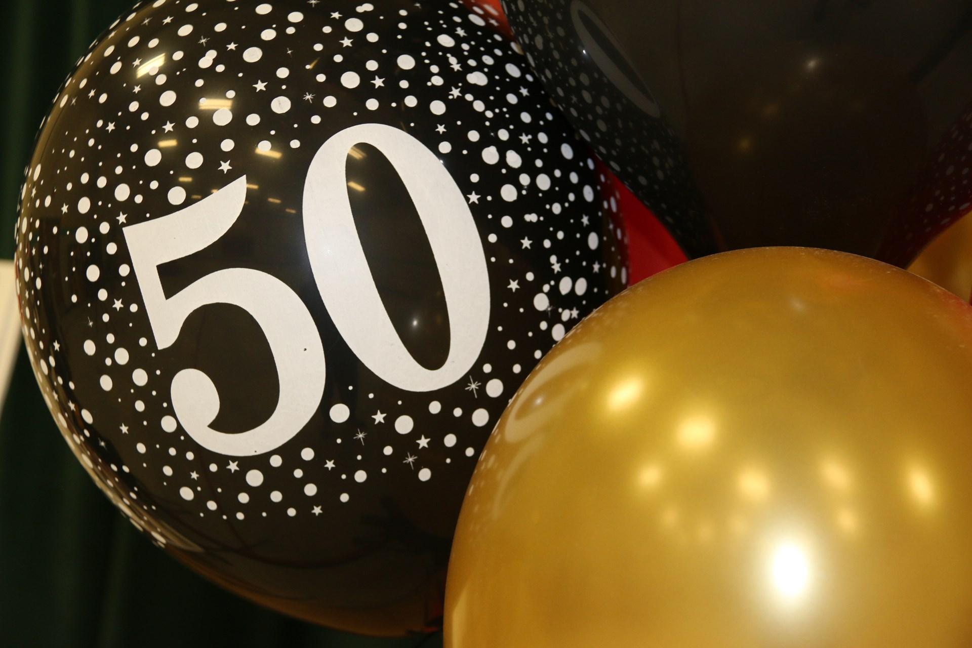 50 years balloons