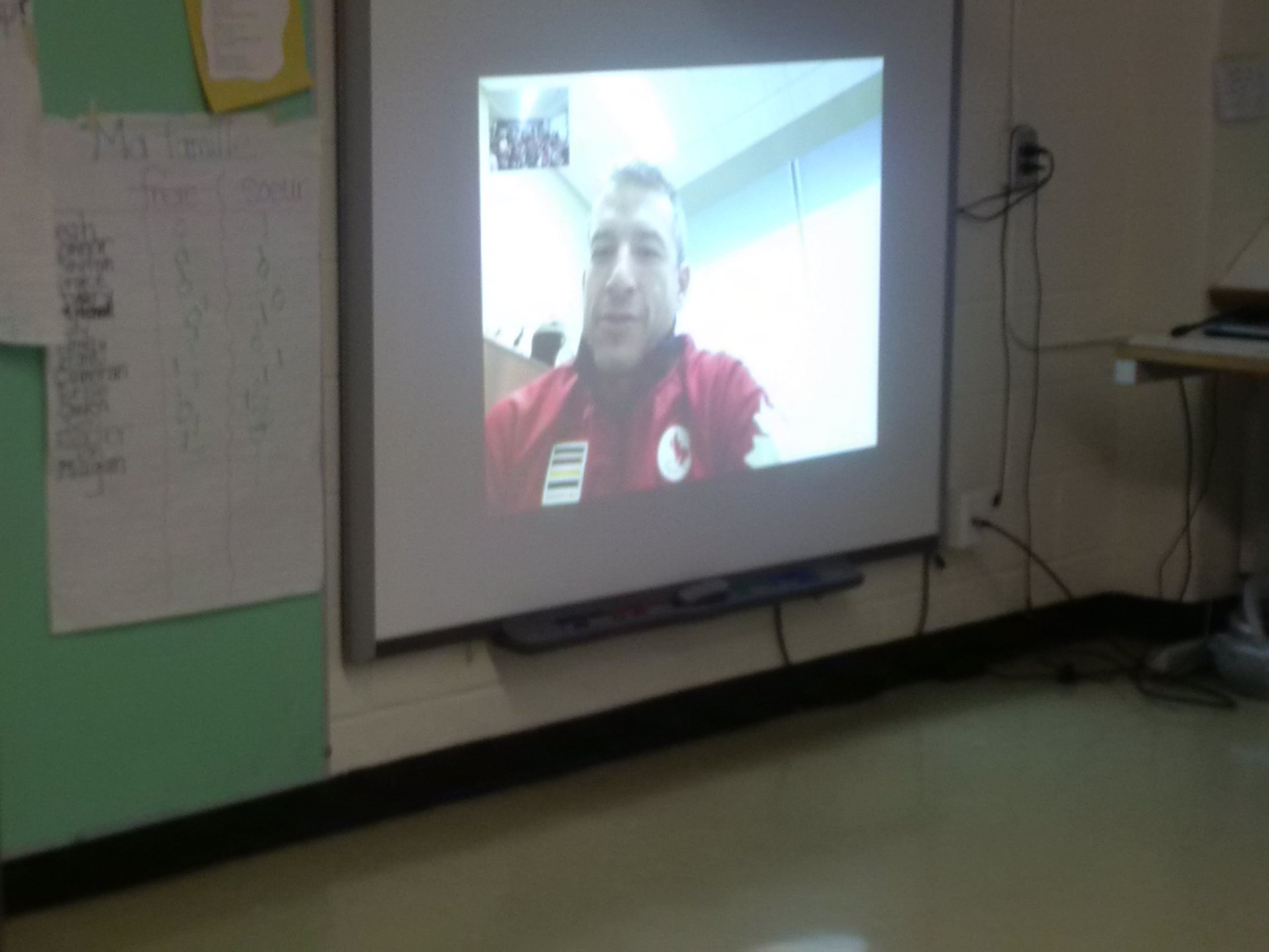 Skyping with paralympian