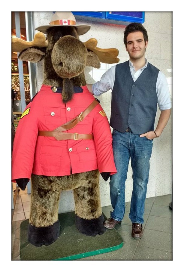 Student with fake Canadian Moose